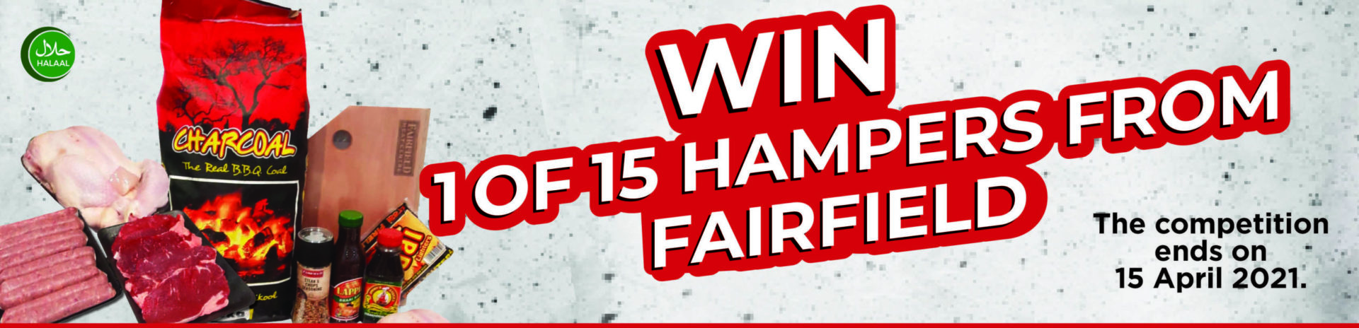 win one of fifteen hampers from fairfield competition banner
